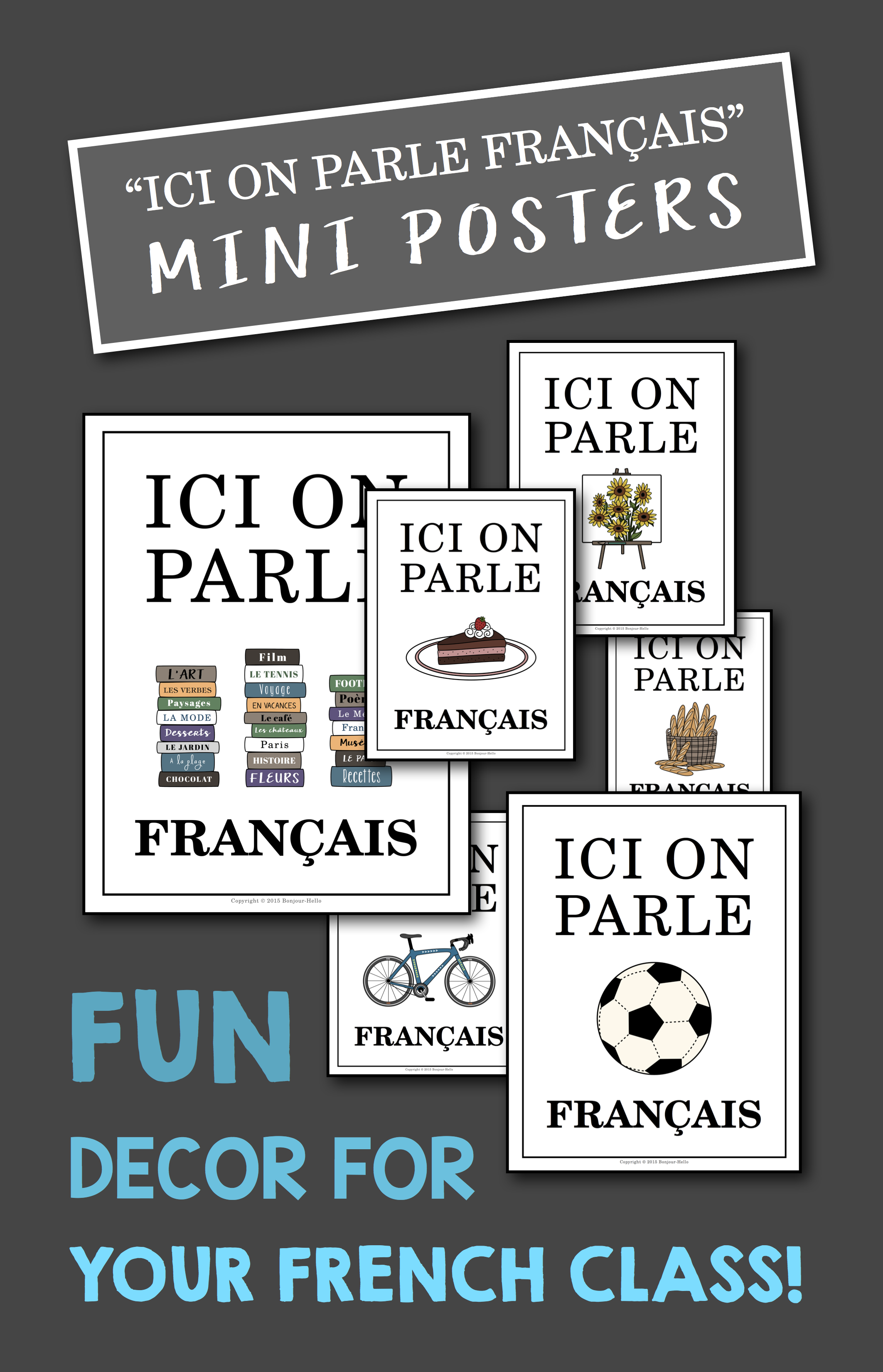 Ici On Parle Francais Mini Posters For French Class