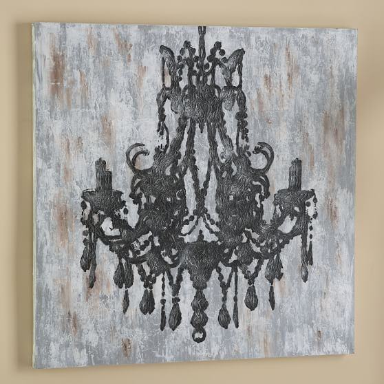 Chandelier Canvas Wall Art Pbteen