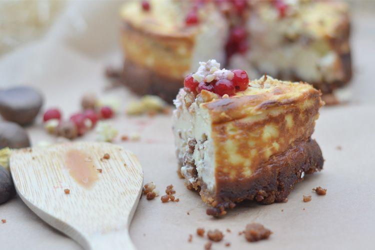 Käsekuchen mit Nüssen ohne Boden // Crunchy Cheesecake