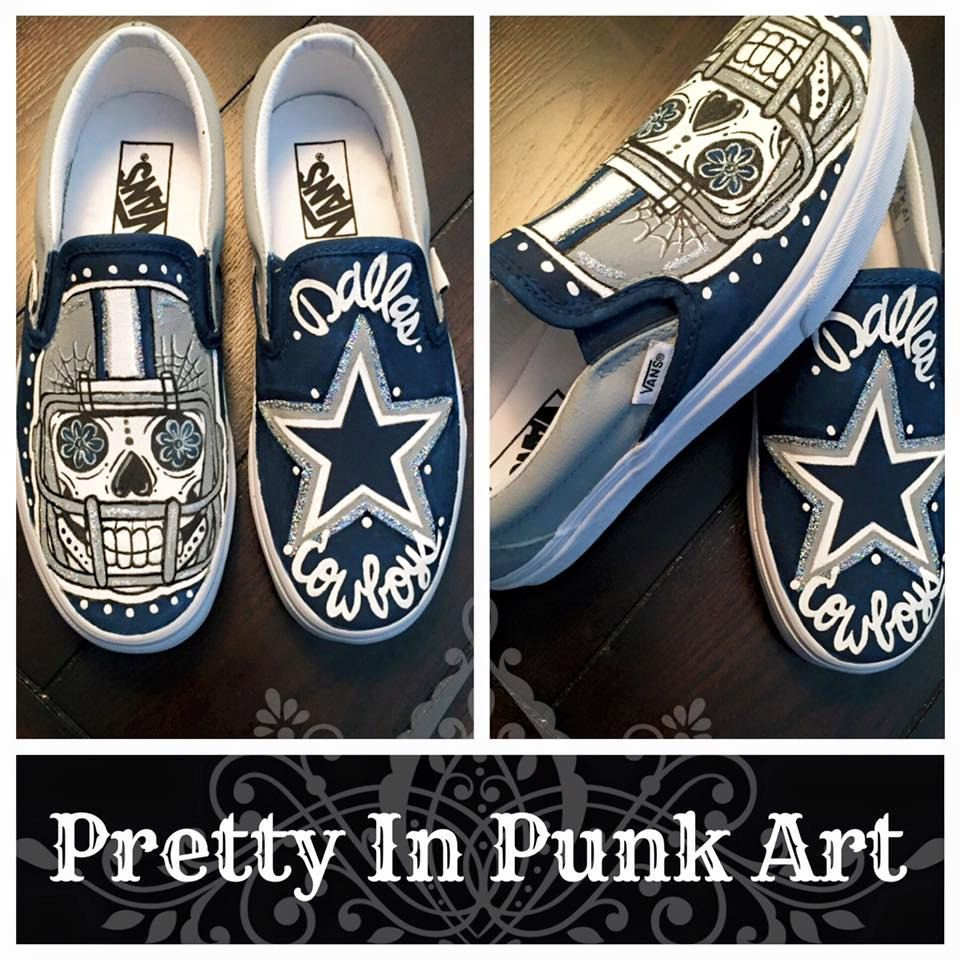 Custom Dallas Cowboys Vans by PrettyInPunkArt87 on Etsy  390d899c4