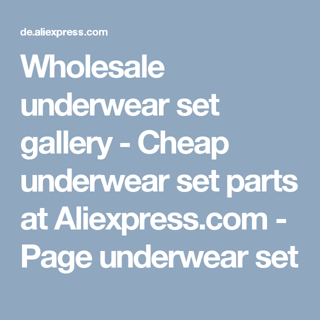 Wholesale underwear set gallery - Cheap underwear set parts at Aliexpress.com - Page underwear set