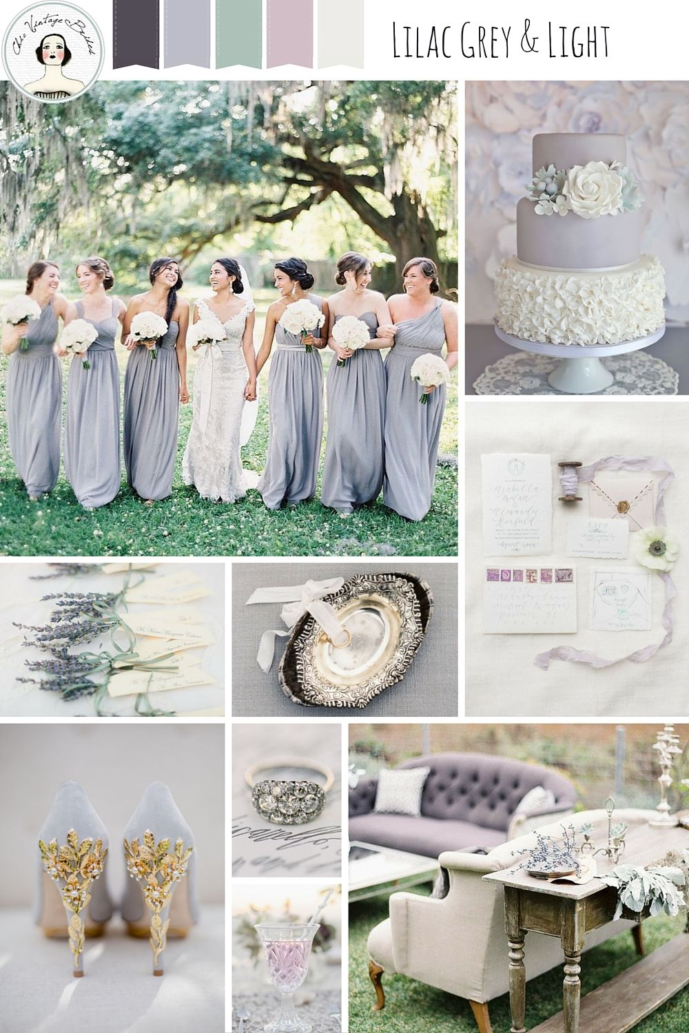 Elegant Wedding Ideas in a Chic Grey & Pastel Palette | Pinterest ...