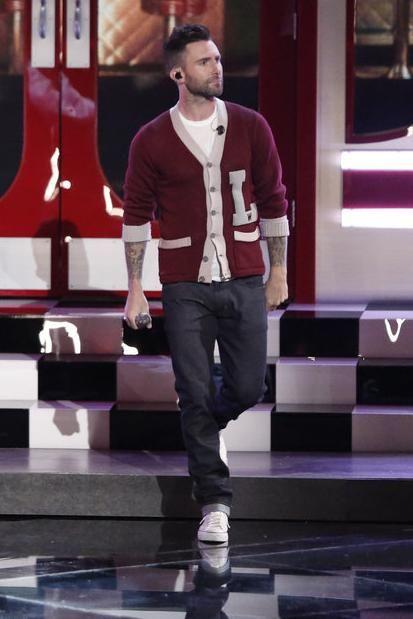 Adam Levine wearing Converse Chuck Taylor Sneaker in White ... 39e9c7c475e3