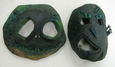 ARTISUN: Clay Masks - Student Work