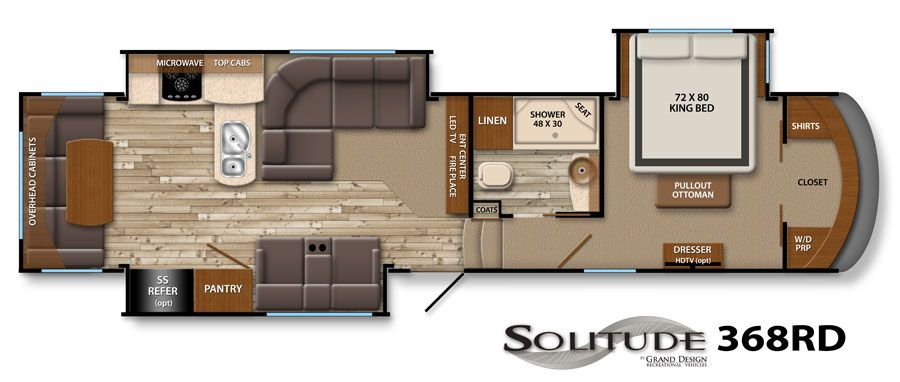 Solitude fifth wheel image galleries grand design rv we for Grand design floor plans