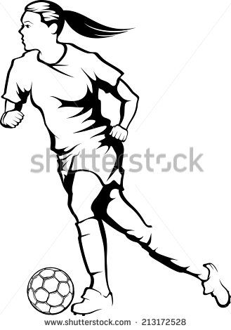 This is a picture of Trust Girl Playing Soccer Drawing