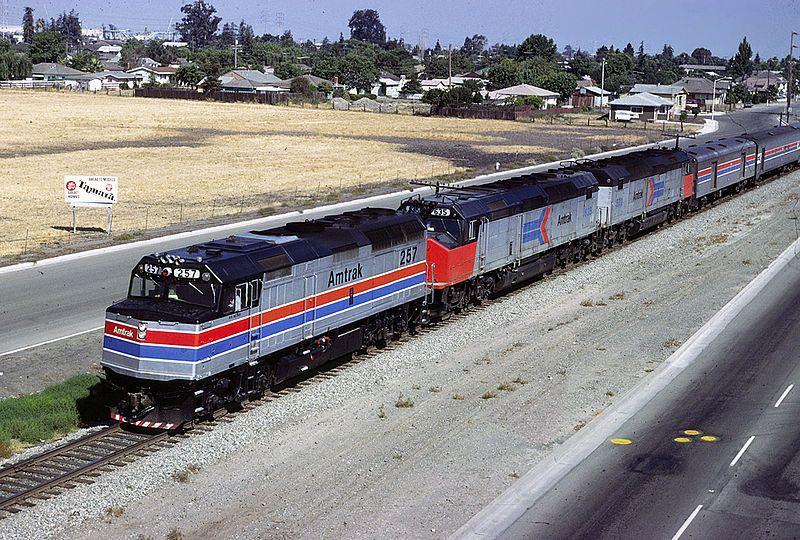 FileAMTK 257 at Agnew june 1980xRP.jpg Amtrak, Train