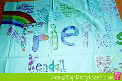 sleepover party pillow case crafts