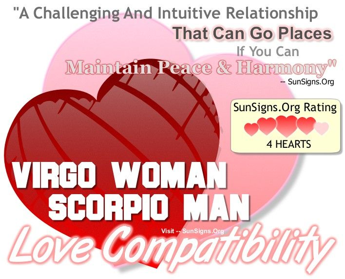 Virgo Woman And Scorpio Man Love Match