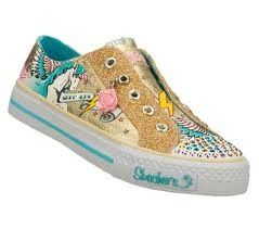 Skechers Girls Twinkle Toes Shoes Gold