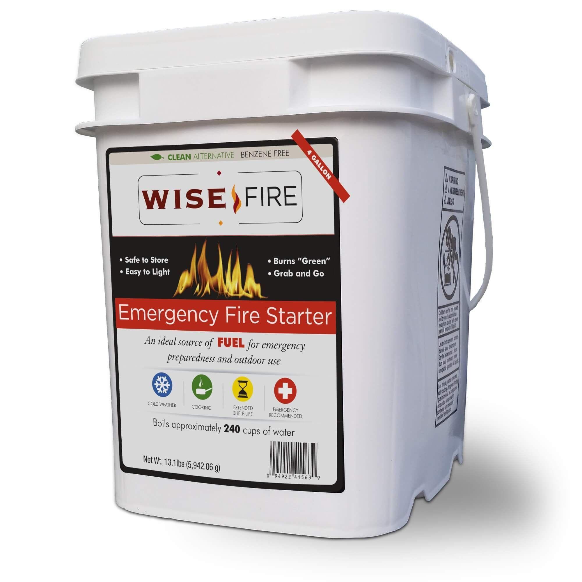 4 gallon bucket of wise emergency survival fire starter