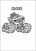 coloring book. colouringblaze and the monster machines8