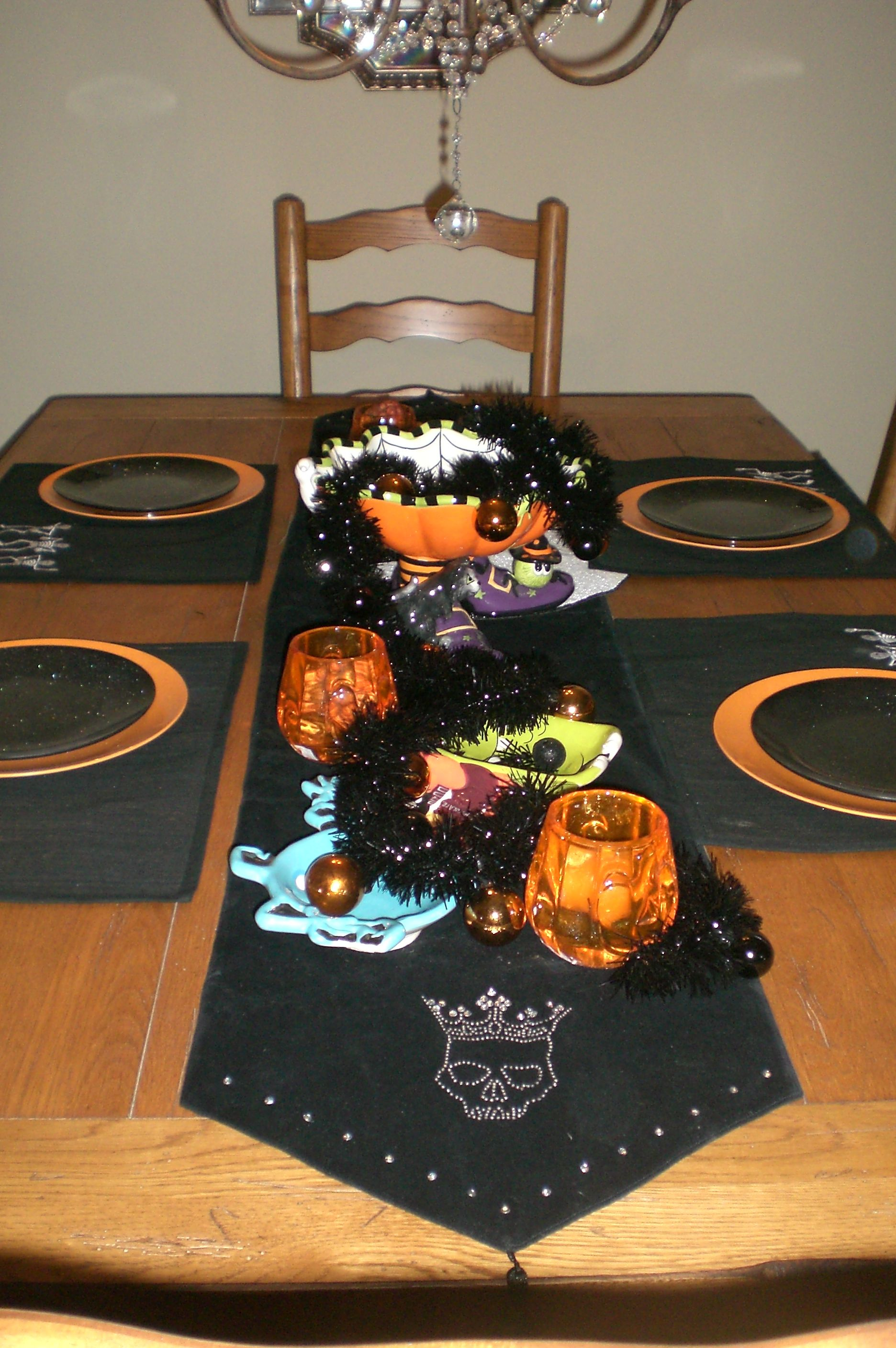 Halloween table decor in my home, compliments of various yrs of - Halloween Table Decorations Pinterest
