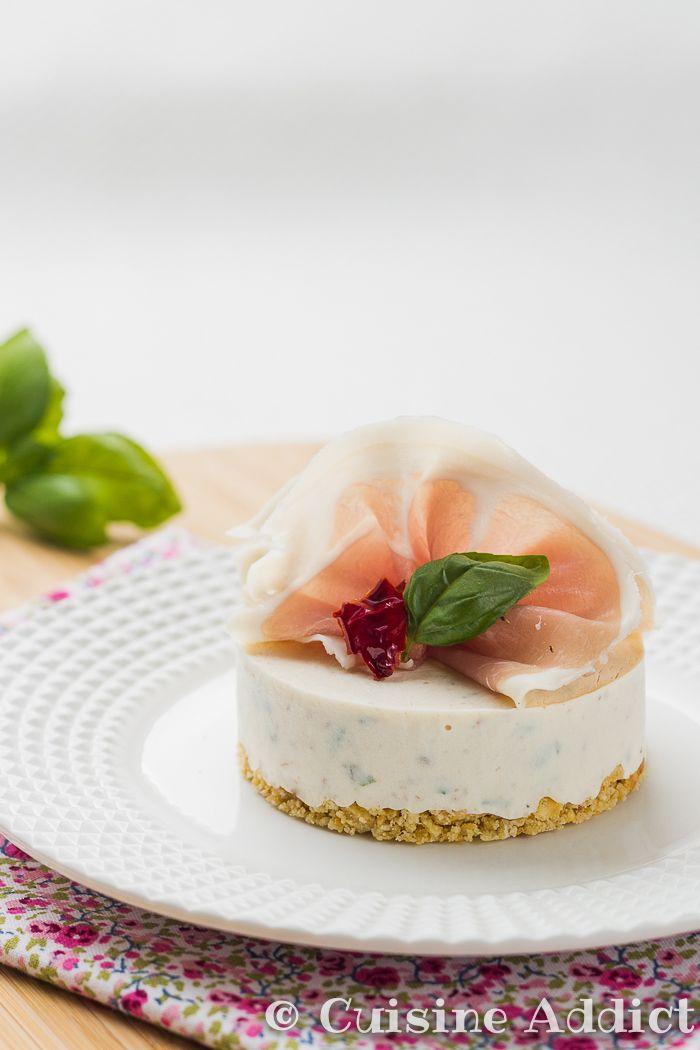 Charming Cheesecake Sale Sans Cuisson #11: Cheesecake Au St Moret, Tomates Séchées Et Basilic