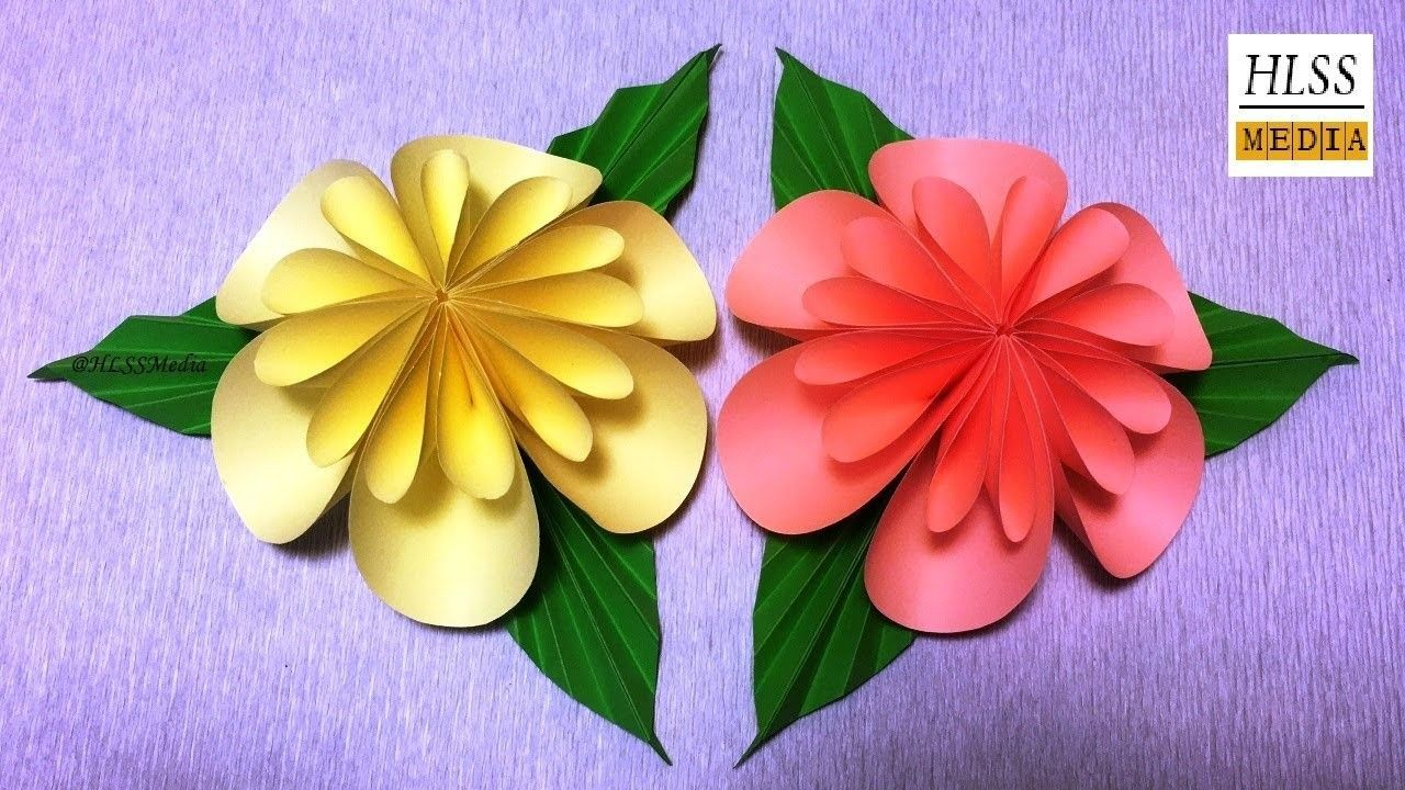 How To Make An Easy Origami Paper Flower For Kids Easy Origami