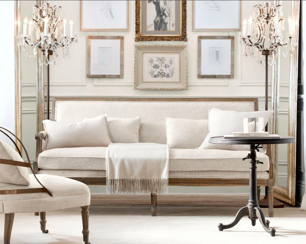Restoration hardware inspired living room - Living Room Restoration Hardware