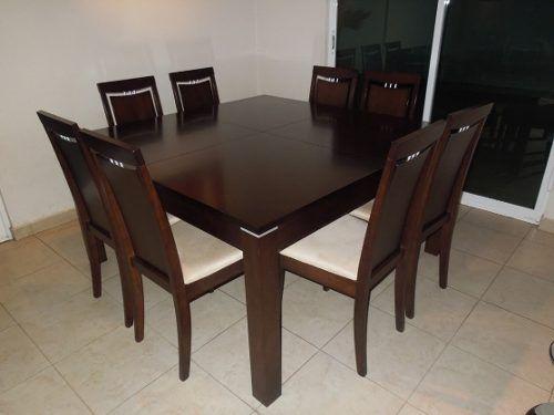 Juego de comedor de 8 sillas mesa extensible cumple nuby for Comedor 8 personas cuadrado