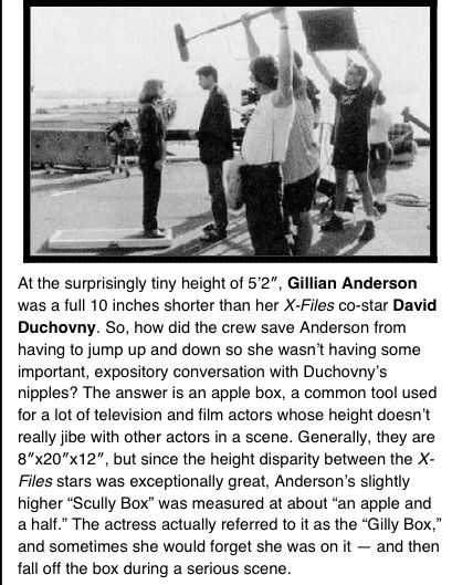 The Story of the Scully Box  HA! She would fall off!