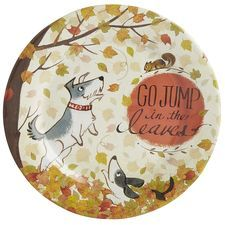Go Jump in the Leaves Melamine Salad Plate