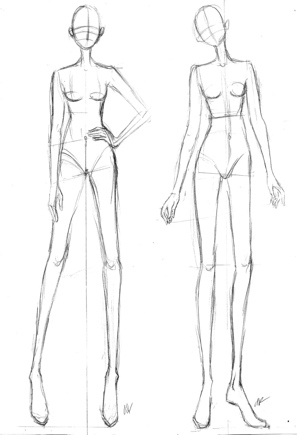 I Draw Fashion - Fashion Drawing Templates Tutorials 33