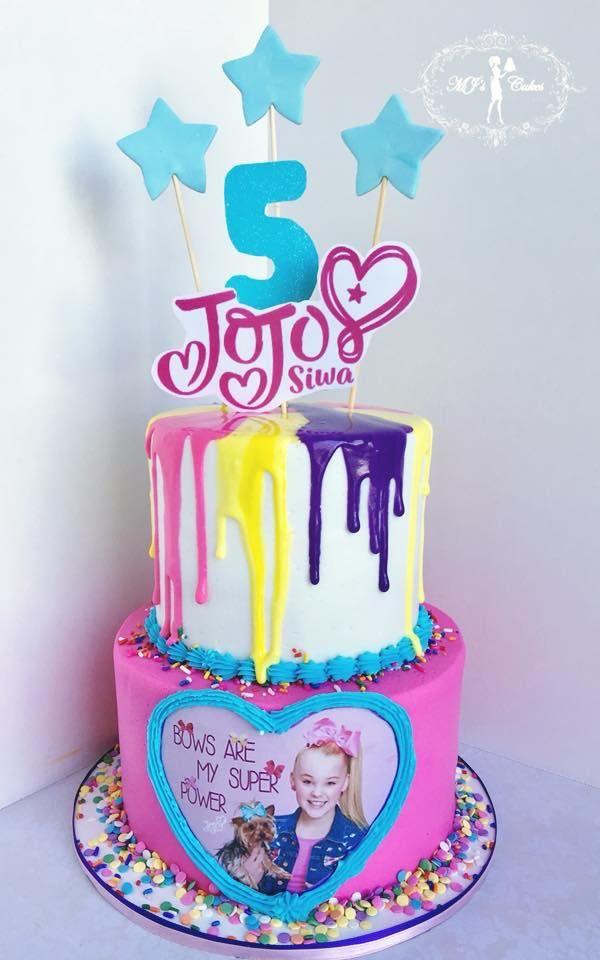 Jojo Siwa Theme Cake Brynn Six In 2019 Jojo Siwa