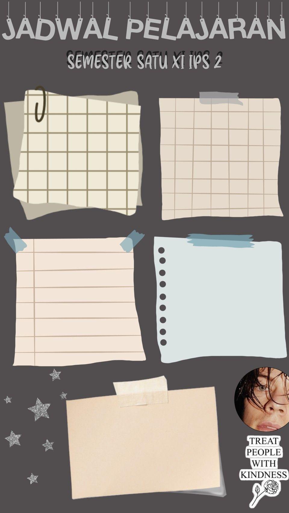 Pin Oleh Kayla Elfreda Di Template Schedule Poster Kelas Template Kertas Catatan