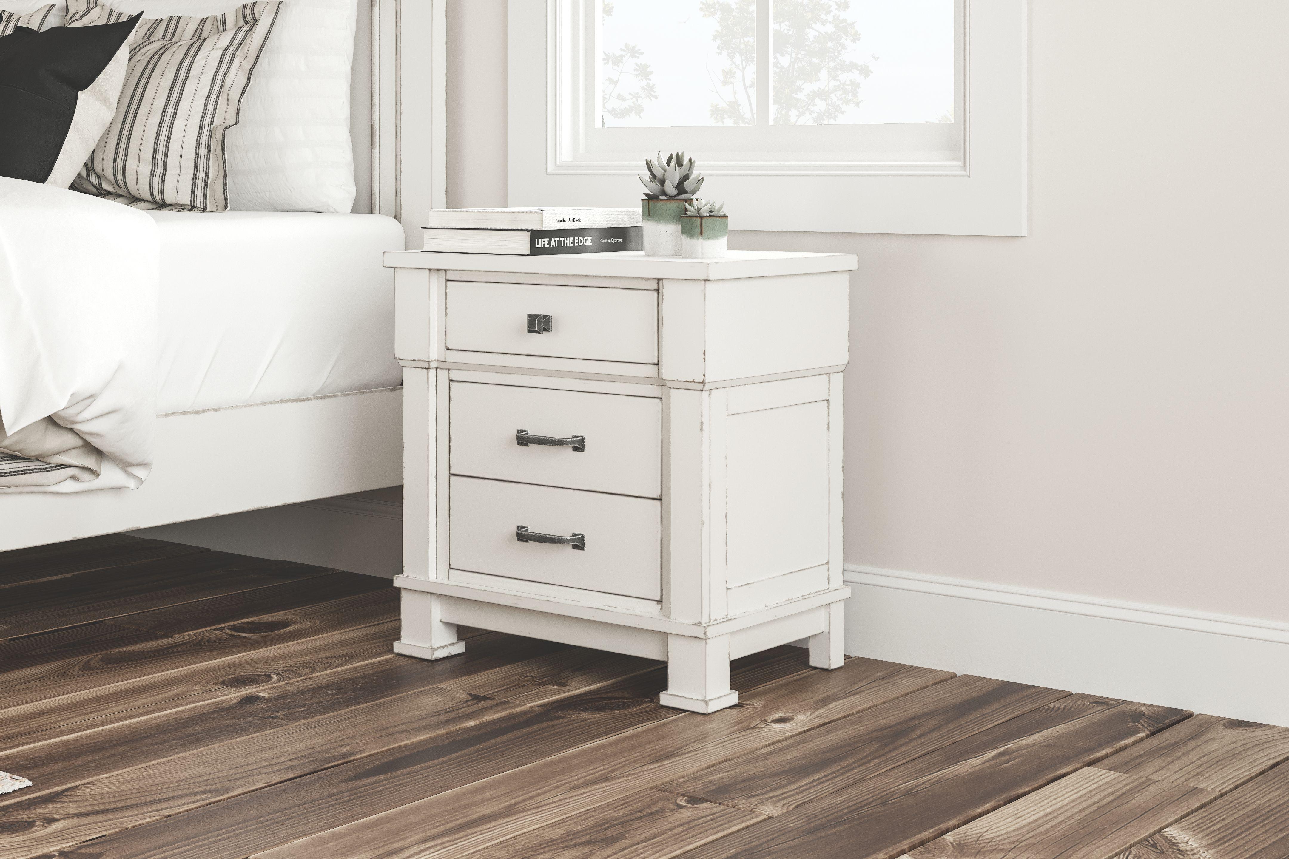 Jennily Nightstand Whitewash Bedroom Night Stands Furniture 5 Piece Bedroom Set