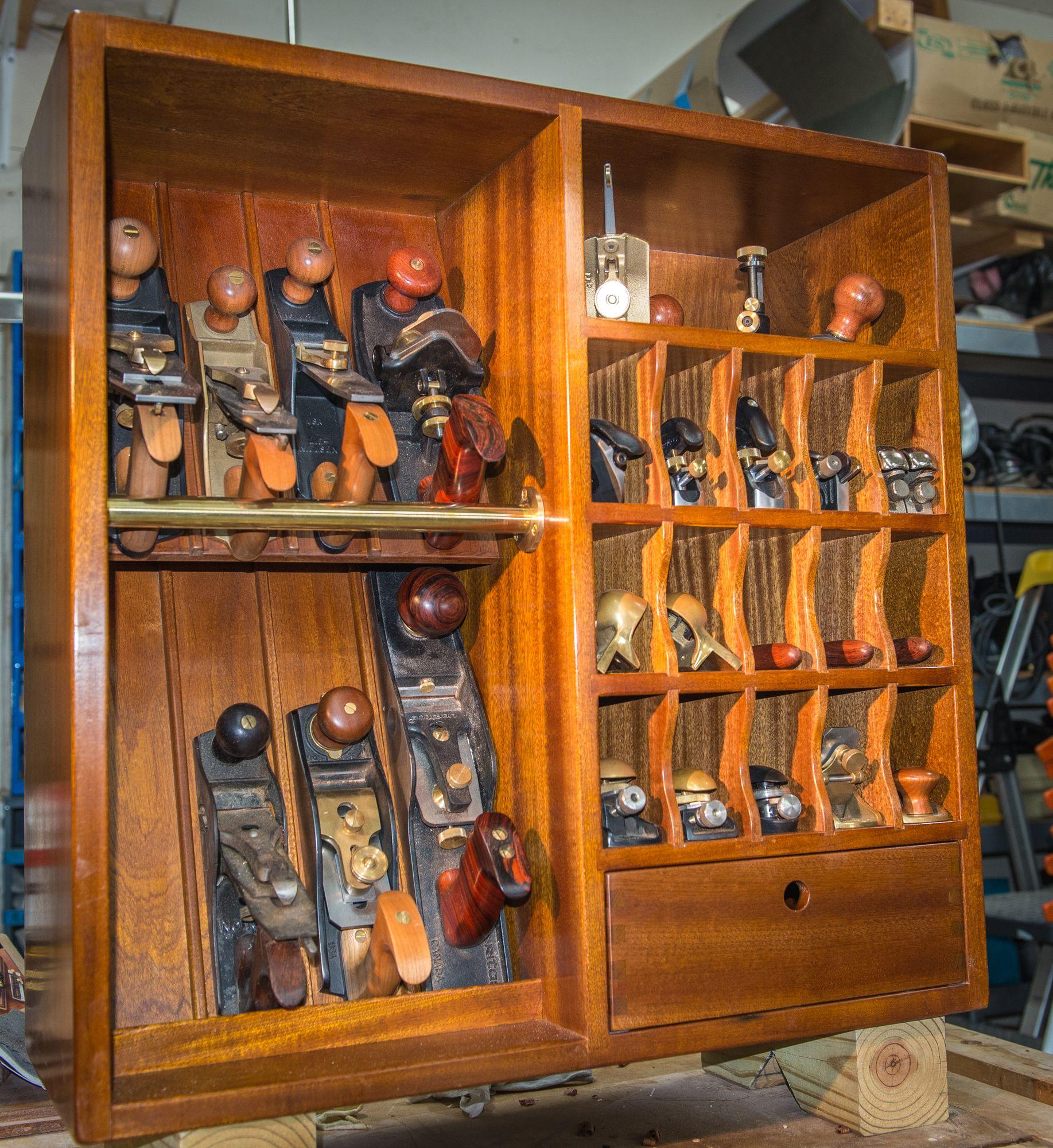 Merveilleux Mahogany Plane Till, Plane Cabinet, Tool Storage, Woodshop