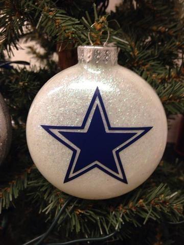 Holiday Christmas Tree Ornament NFL Football Dallas Cowboys - Holiday Christmas Tree Ornament NFL Football Pittsburgh Steelers