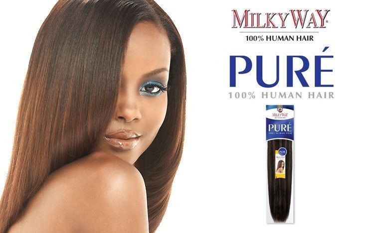 MILKYWAY REMY HUMAN HAIR WEAVE PURE YAKY OMBRE TWO TONE- 10