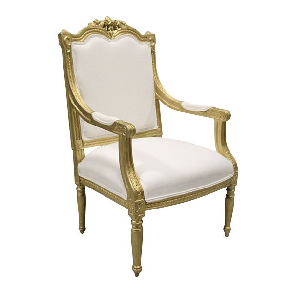 Queen French Gilded Arm Chair French Style Arm Chair With Gold