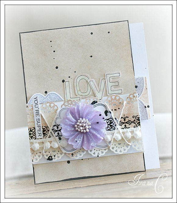 Card created with Craft's Meow stamps and Webster's Western Romance papers!