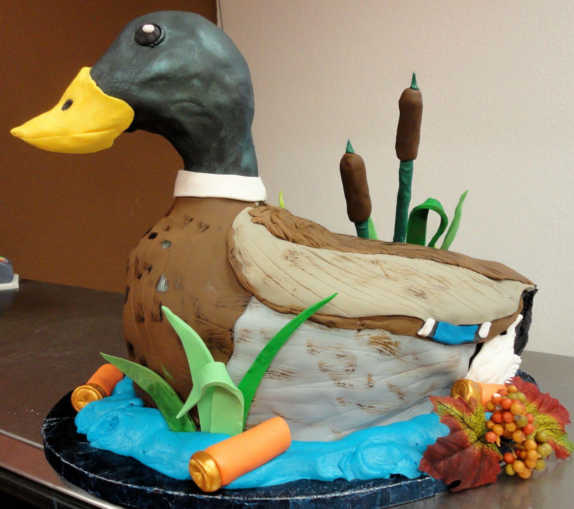 mallard duck grooms cake by slice custom cakes  Wedding Cakes By Slice  Duck cake Christmas