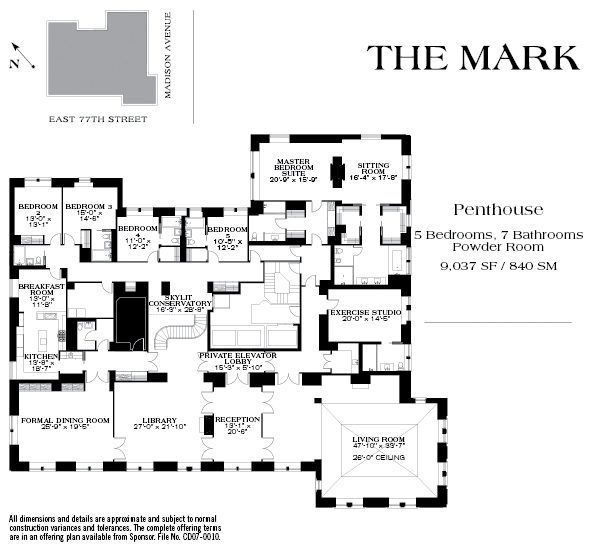 Upper East Side's The Mark Returns, $60M Penthouse And All