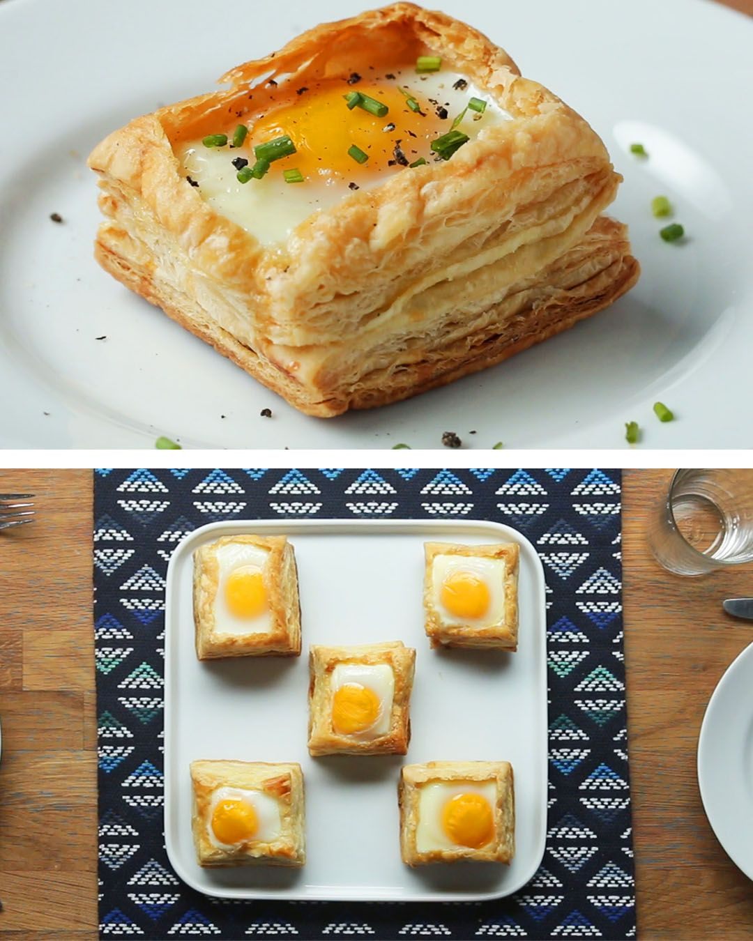 Puff Pastry Breakfast Cups Recipe by Tasty