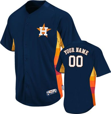 official photos 97e49 70491 Houston Astros Jersey: Navy Authentic MLB Batting Practice ...