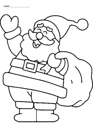 image about Santa Printable Coloring Pages known as Are your self (or the very little types) searching ahead in direction of Xmas