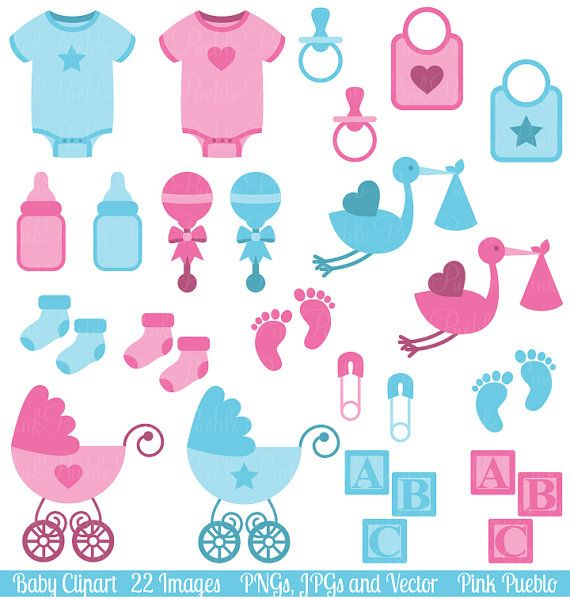 Baby Shower Girl Songs ~ Baby clip art clipart boy and girl shower