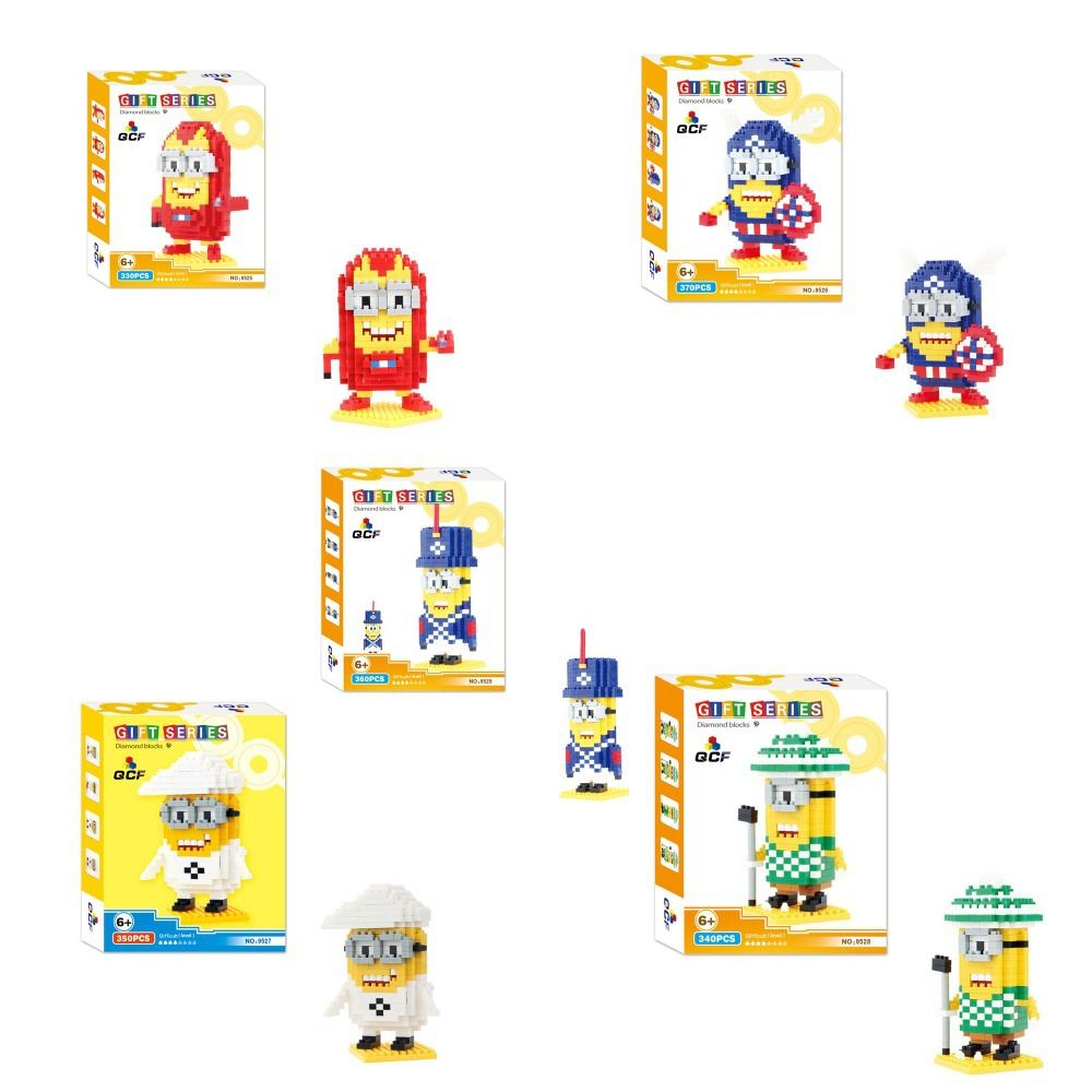 (Buy here: http://appdeal.ru/kdj ) QCF 9525-29 5Set Minion 1750Pcs building Diamond block brick series toys GIFT for just US $40.90