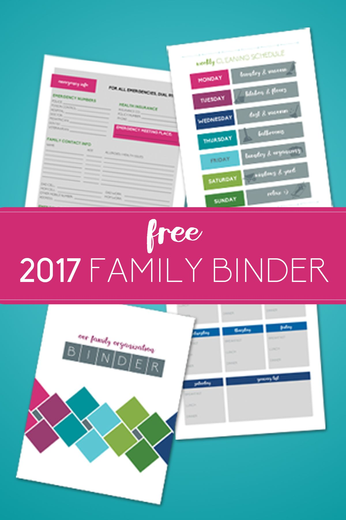 Free Printables For Getting Your House Organized