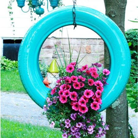ideas for using old tyres in the garden