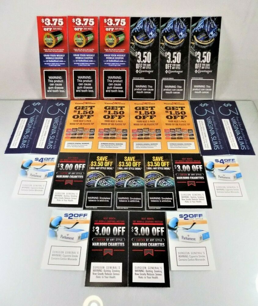 photograph regarding Copenhagen Coupons Printable named MARLBORO~PARLIAMENT~SKOAL~COPENHAGEN~25 CIGARETTE/TOBACCO