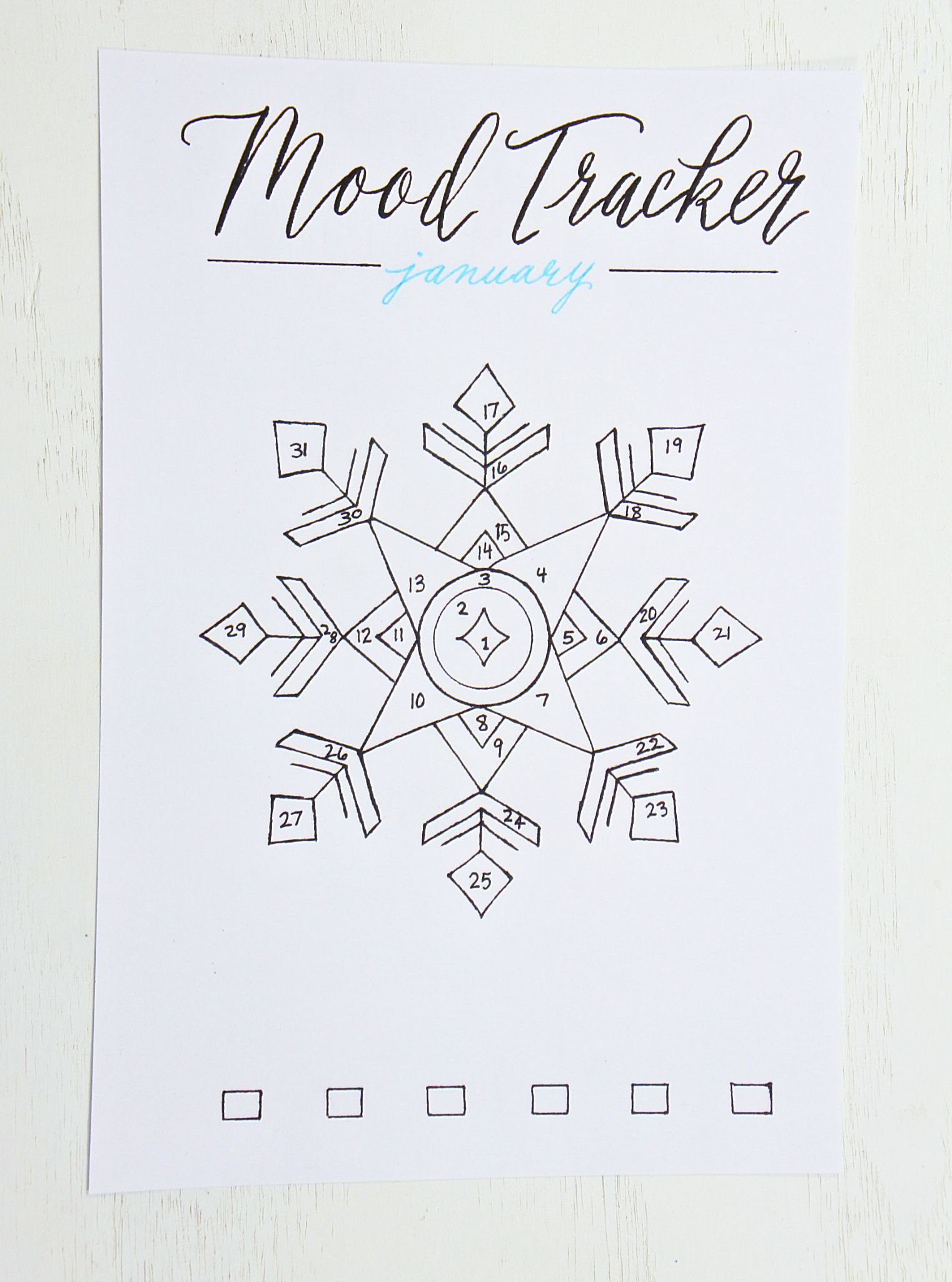 image regarding Mood Tracker Bullet Journal Printable referred to as Bullet Magazine Set up for 2019 Planner December bullet