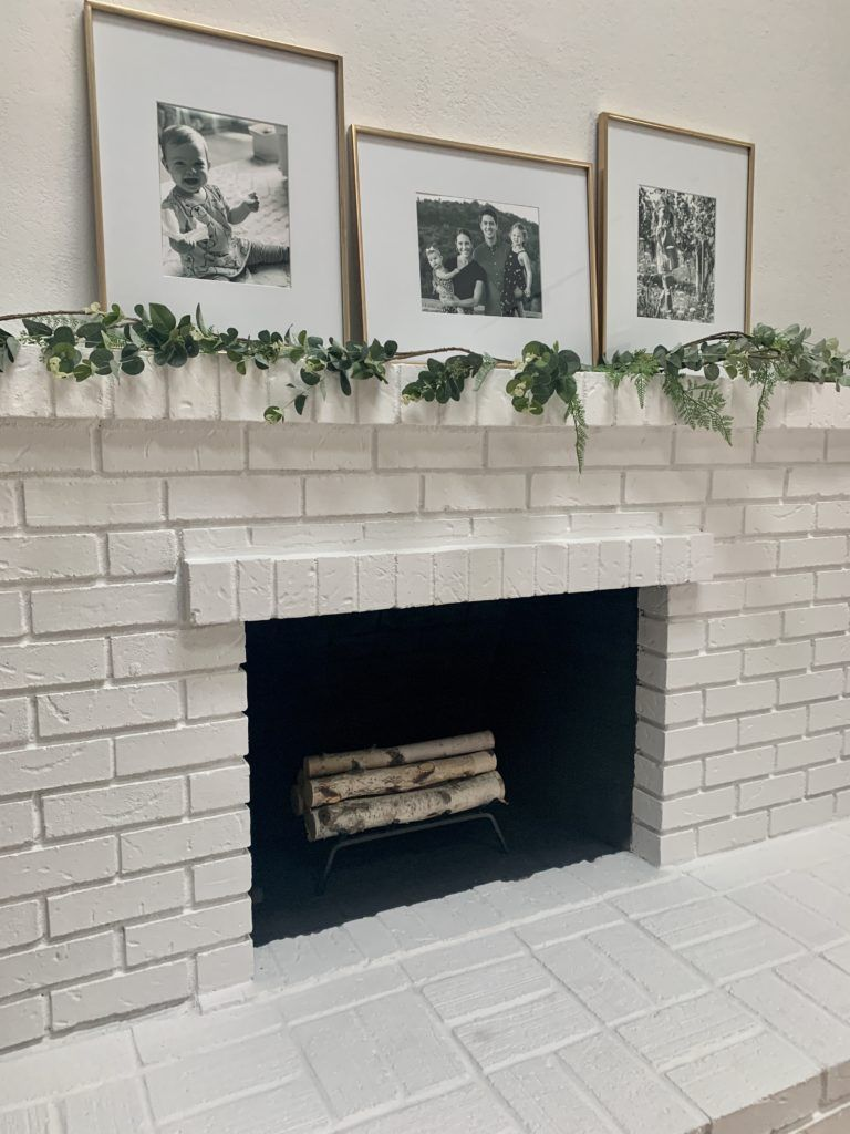 Diy Brick Fireplace Update Fireplace Update Brick Fireplace