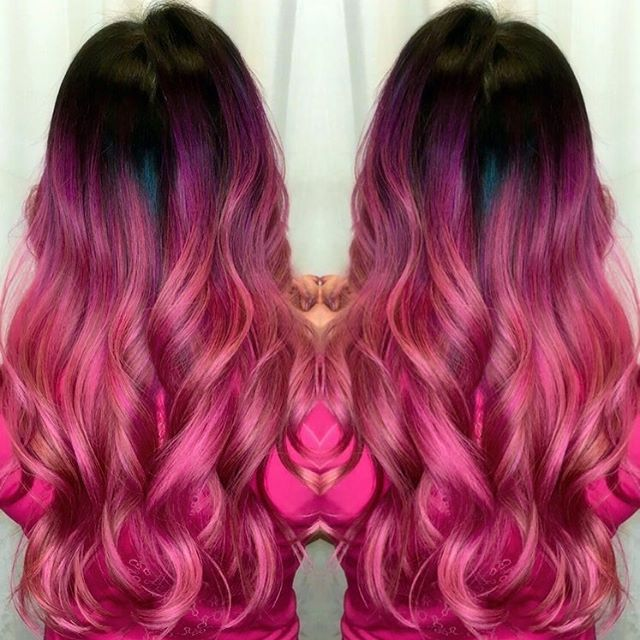 10 Hottest Ombre Hairstyles For Women Trendy Ombre Hair Color Ideas Pink Ombre Hair Black Hair Ombre Bright Hair Colors
