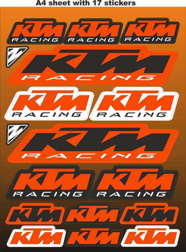 Ktm Stickers Race Stickers Decals Helmet Decal Motorcycle Graphics