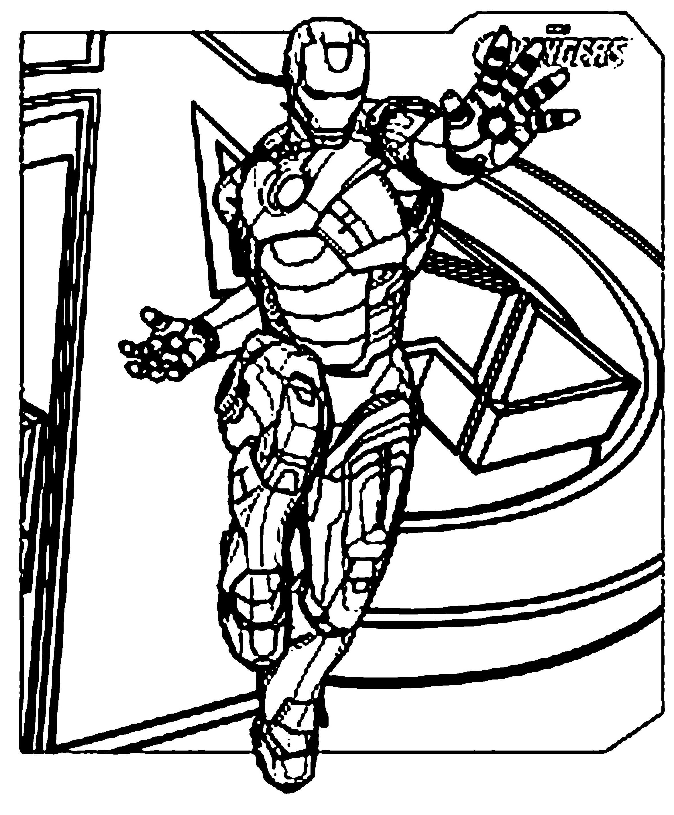 iron man coloring page | Iron Man Coloring Pages Avengers | ABC for ...