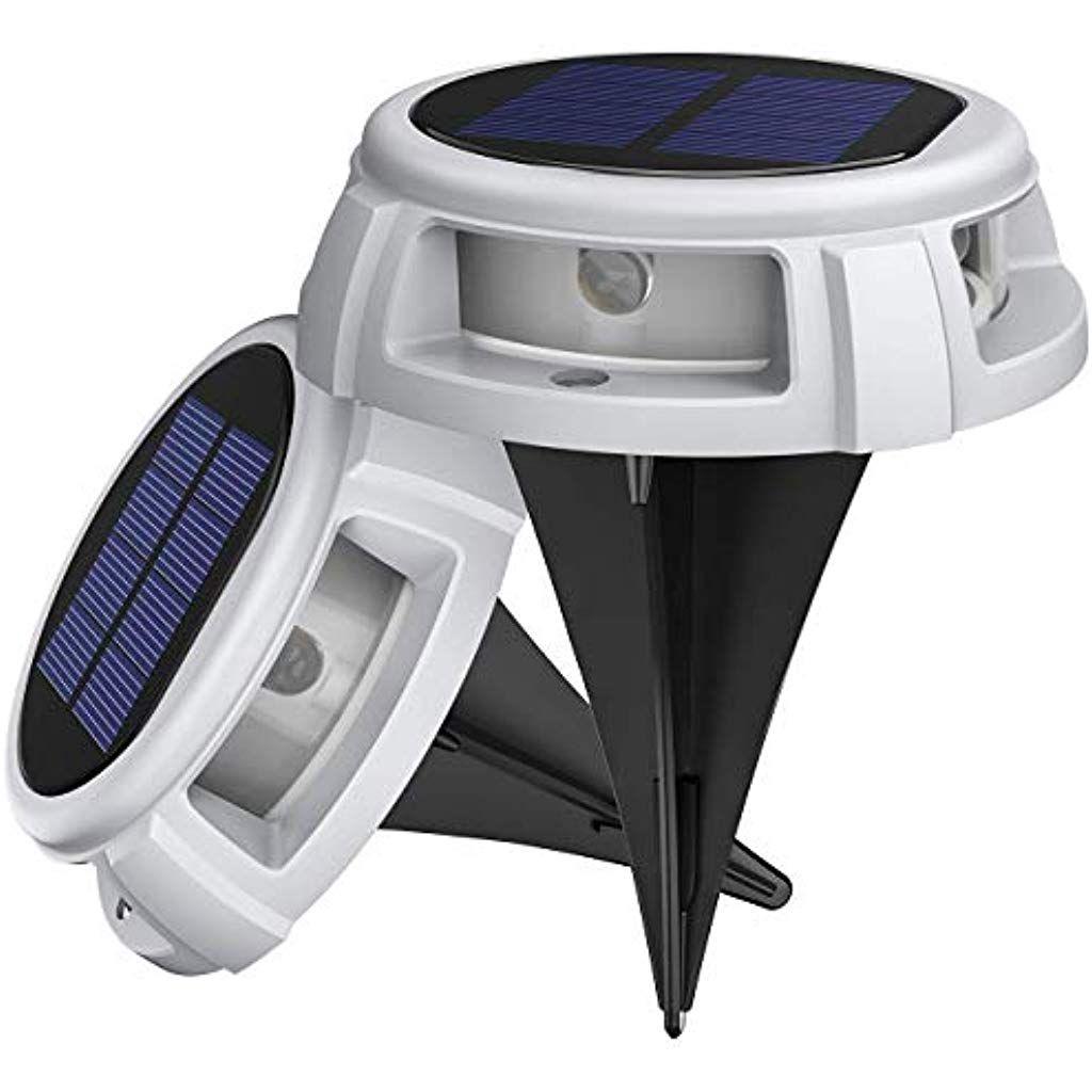 wei/ß LITOM Solar Bodenleuchten Au/ßen,4LED Bodenlampen mit 4 Beleuchtungsmodi,IP68 Wasserdicht,Automatisch Schalten,stabile dauerhafte Bodenleuchten f/ür Aussen,Terrasse,Garten,Rasenweg,Einfahrt