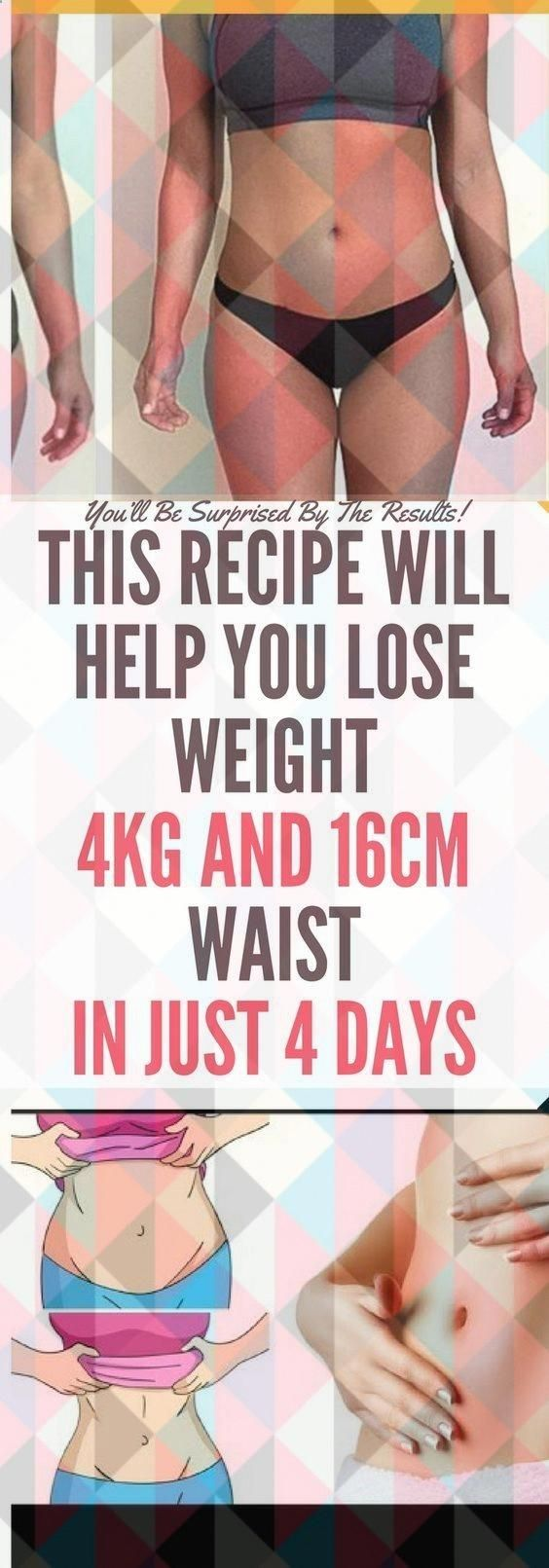 Don�t Consume It More Than 4 Days! This Mixture Will Help You Lose 4kg and 16cm Waist in Just 4 Days...
