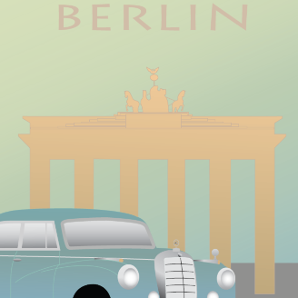 Poster. Grafisk Design. Berlin. Brandenburger Tor 2